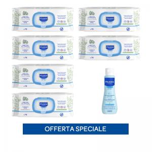 x6 Salviette profumate + Fluido detergente senza risciacquo 100ml