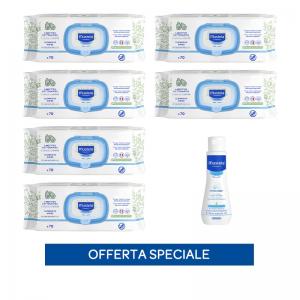 x6 Salviette profumate + Hydra bébé latte corpo 100ml